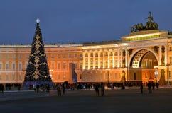 Weihnachten in St Petersburg, Russland Stockfoto