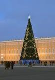 Weihnachten in St Petersburg, Russland Stockbild