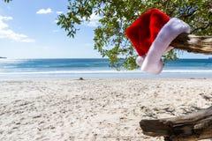 Weihnachten am Strand stockfotografie