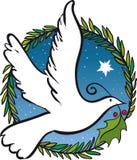 Weihnachten tauchte vom Frieden stockfoto