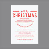 Weihnachten und glückliches neues Jahr Abdeckungsgrußkarten Lizenzfreies Stockbild