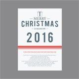 Weihnachten und glückliches neues Jahr Abdeckungsgrußkarten Stockbild