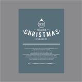 Weihnachten und glückliches neues Jahr Abdeckungsgrußkarten Stockfotografie