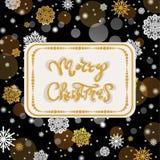 Weihnachten und neue Jahre dunkle Hintergrund mit Weihnachten funkeln Stockfotografie