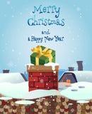 Weihnachten und neue Jahre Fahnen mit Geschenken Vektor Lizenzfreie Stockfotografie