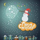 Weihnachten und neue Jahre Karte lizenzfreies stockfoto