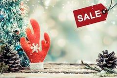 Weihnachten und neues Jahr im Verkauf Stockfoto