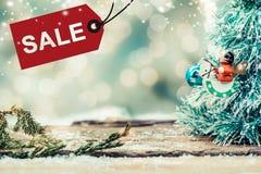 Weihnachten und neues Jahr im Verkauf Stockfotografie