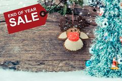 Weihnachten und neues Jahr im Verkauf Lizenzfreie Stockfotos