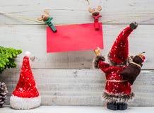 Weihnachten und neues Jahr mit Sankt Lizenzfreie Stockfotografie