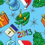 Weihnachten und neues Jahr nahtlos Lizenzfreie Stockfotografie