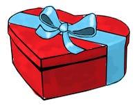 Weihnachten- und neues Jahr ` s Tag, Geschenkboxweißhintergrund lizenzfreie abbildung