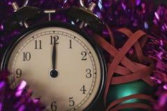 Weihnachten und neues Jahr ` s Vorabendfeier und -countdown Lizenzfreies Stockbild
