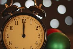 Weihnachten und neues Jahr ` s Vorabendfeier und -countdown Stockfotos