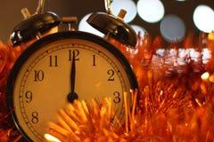 Weihnachten und neues Jahr ` s Vorabendfeier und -countdown Lizenzfreie Stockfotos
