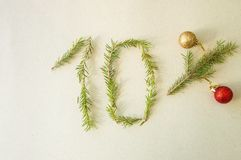 Weihnachten- und neues Jahr Special 10% weg vom Rabattförderungsverkauf Lizenzfreie Stockfotos