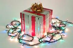 Weihnachten und Neujahrsgeschenk Stockbild