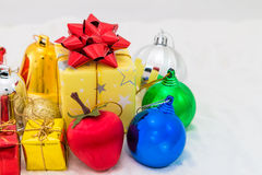 Weihnachten und newyear 2016 Stockbild