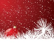 Weihnachten und Schnee Lizenzfreie Stockfotos