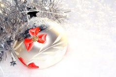 Weihnachten und Schnee stockfoto