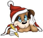 Weihnachten und Welpen-Hund Lizenzfreie Stockfotos