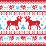 Weihnachten und Winter gestricktes Muster scandynavian Lizenzfreies Stockbild