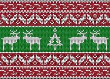 Weihnachten und Winter gestricktes nahtloses Muster Stockfotografie