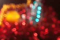 Weihnachten unscharfe Sternform Leuchten Stockfotografie