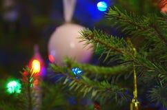 Weihnachten unscharfer Hintergrund Lizenzfreies Stockfoto