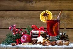 Weihnachten verrührter Wein Stockfotos