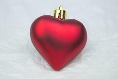 Weihnachten verziert das geformte Herz Lizenzfreie Stockbilder
