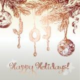 Weihnachten verziert Hintergrund Lizenzfreie Stockbilder