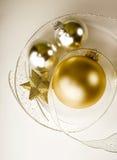 Weihnachten verziert ruhige Lebensdauer Stockbild
