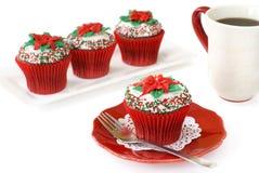 Weihnachten verzierte kleine Kuchen Lizenzfreie Stockfotos