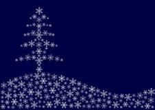 Weihnachten von den Schneeflocken Stockfotografie