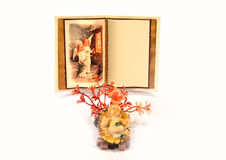 Weihnachten wünscht Buch Lizenzfreie Stockfotografie