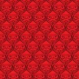 Weihnachten Weihnachtsmann stellt monotones nahtloses Muster gegenüber Stockfotos