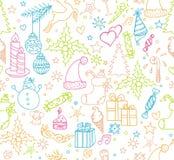 Weihnachten wendet nahtloses Muster ein Stockbilder