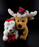 Weihnachten wenig Bär und Ren Lizenzfreies Stockbild