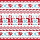 Weihnachten, Winter strickte Muster, Karte lizenzfreie abbildung