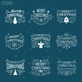 Weihnachten wird Weinlese deutlich Stockbild