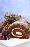 Weihnachten Yule Log Cake Stockbilder