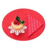 Weihnachten zerkleinern Torte Lizenzfreies Stockbild