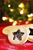 Weihnachten zerkleinern Torten Stockbild