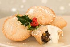 Weihnachten zerkleinern Torten Lizenzfreies Stockfoto