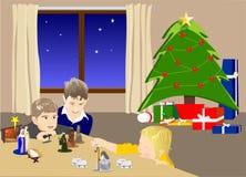 Weihnachten zu Hause stockbild