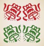 Weihnachten zwei Glocken Stockfotografie