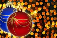 Weihnachtenbokeh Stockfoto
