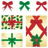Weihnachtenbow&gift Stockbilder