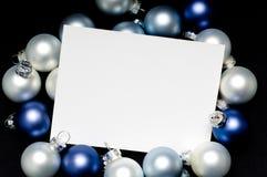 Weihnachtenc$anmerkung-karte Lizenzfreies Stockbild